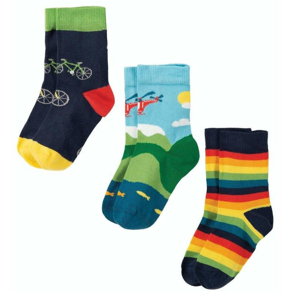 Frugi - Rock My Socks 3 Pack  Bike Multipack