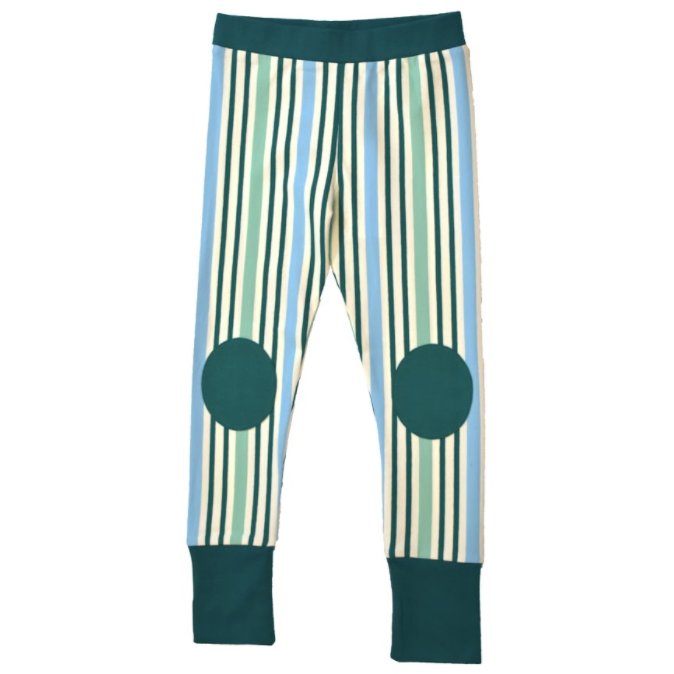 Moromini - Baby Pants Striped Green/Blue