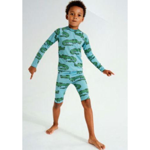 KUKUKIDS - Green Crocodile | Swim Short Leggings