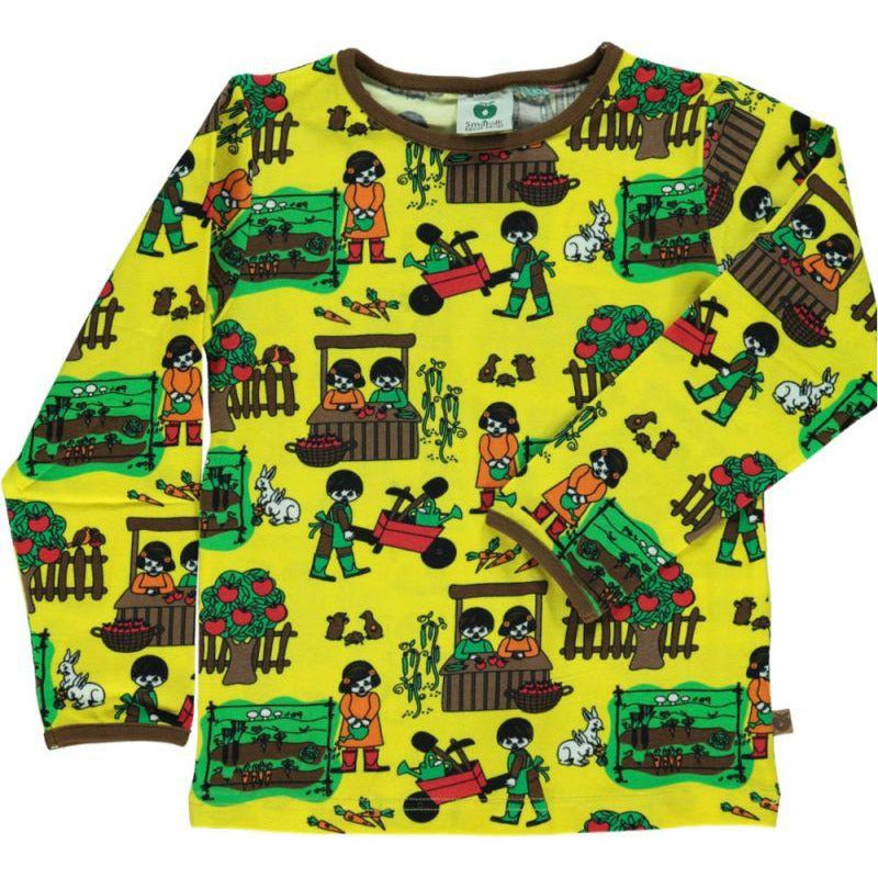 Smafolk - T-shirt LS Garden Yellow