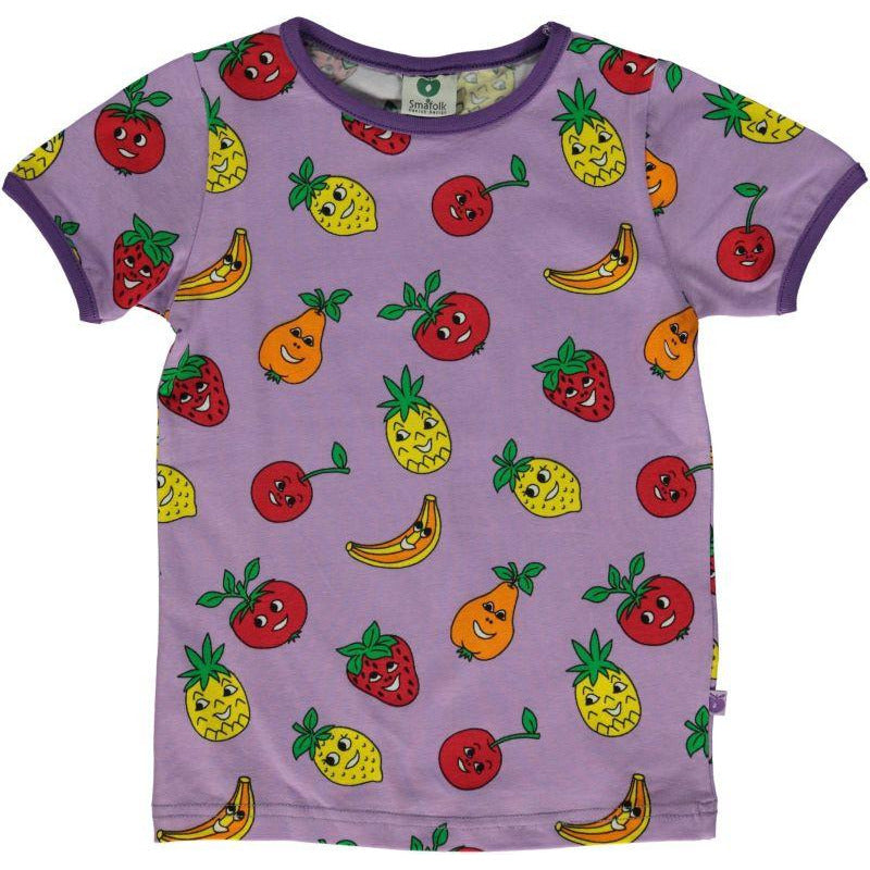 Småfolk - Short sleeve Violet T-shirt with Fruits