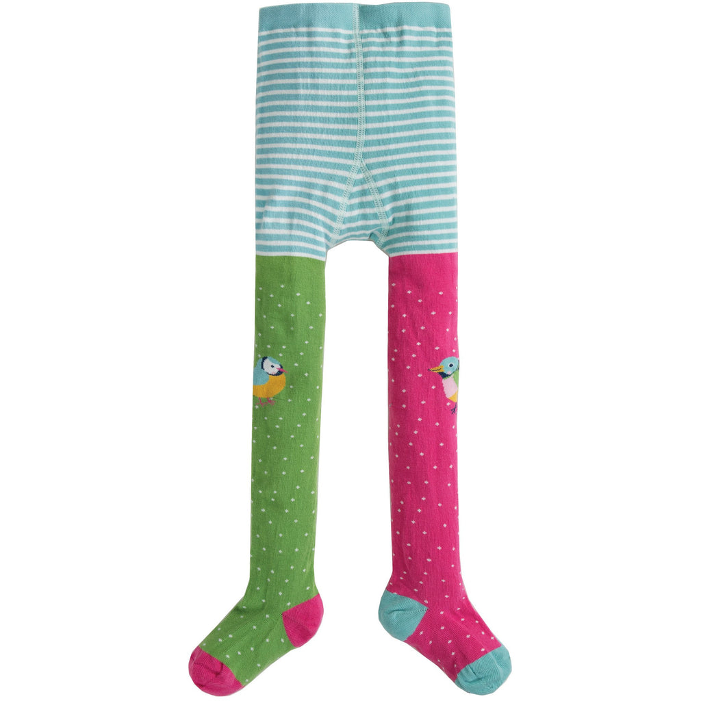 Frugi - Fun Knee Tights Hotchpotch/Finches - PopSee Online