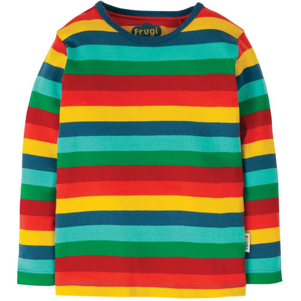Frugi - Favourite Rainbow Long Sleeve Tee