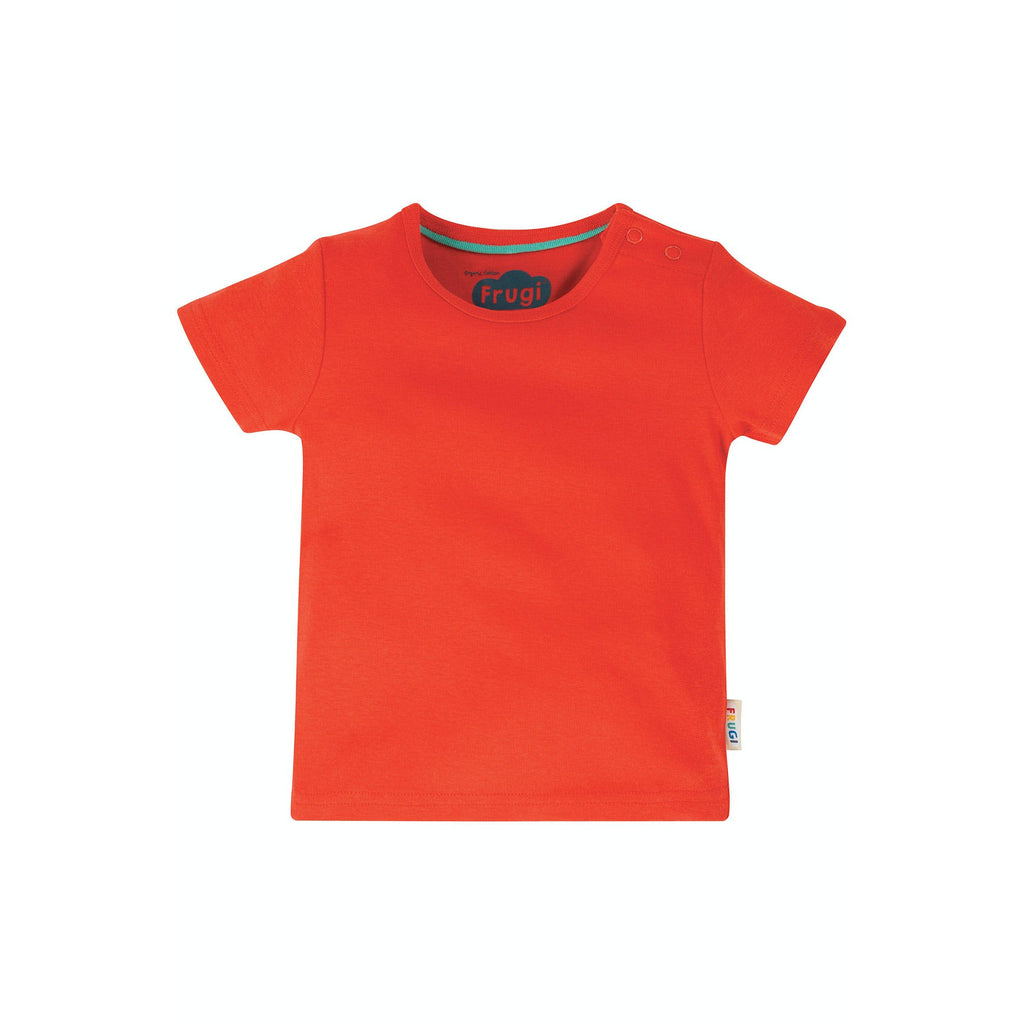 Frugi - Favourite T-Shirt, Koi Red (last one sz 8-9Y)