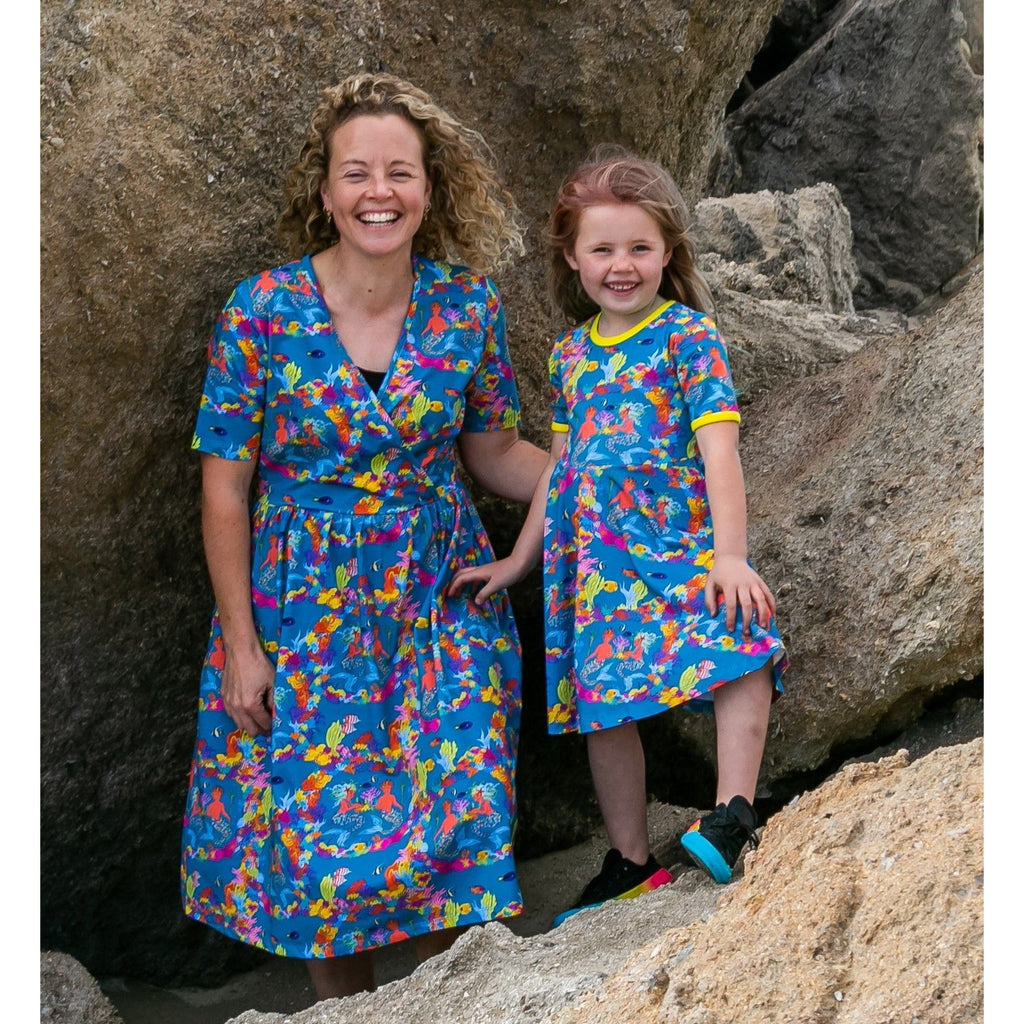 Coddi and Womple - Pearl and Merin the Ocean's Gardeners Women's Coco Dress (last one sz L)