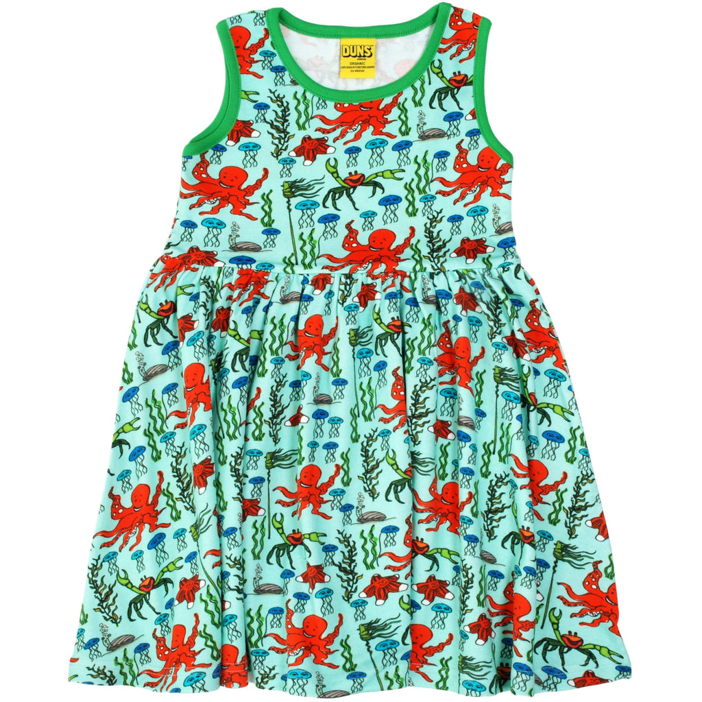 Duns Sweden - Octopus Mint Sleeveless Dress W Gather Skirt - PopSee Online