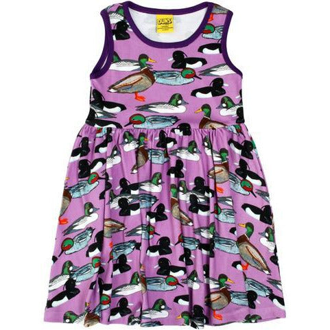 Duns Sweden - Duck Pond Purple Sleeveless Dress W Gather Skirt - PopSee Online