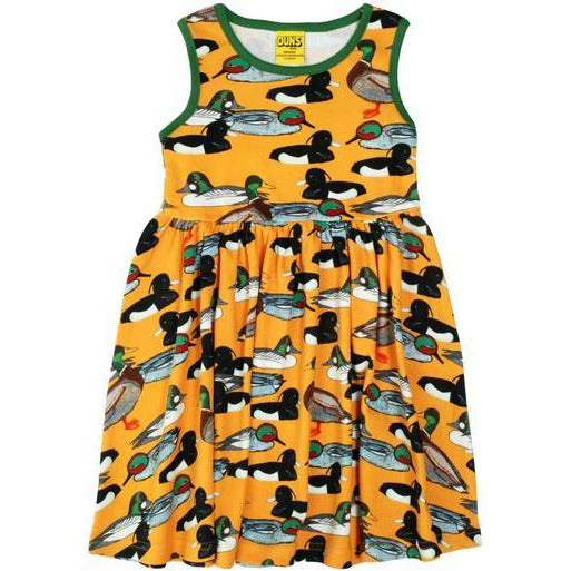 Duns Sweden - Duck Pond Mustard Sleeveless Dress W Gather Skirt - PopSee Online