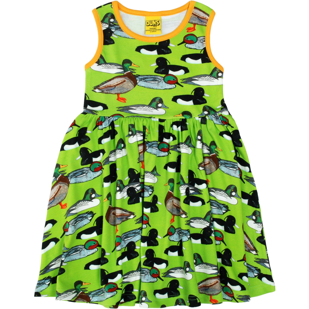 Duns Sweden - Duck Pond Green Sleeveless Dress W Gather Skirt - PopSee Online