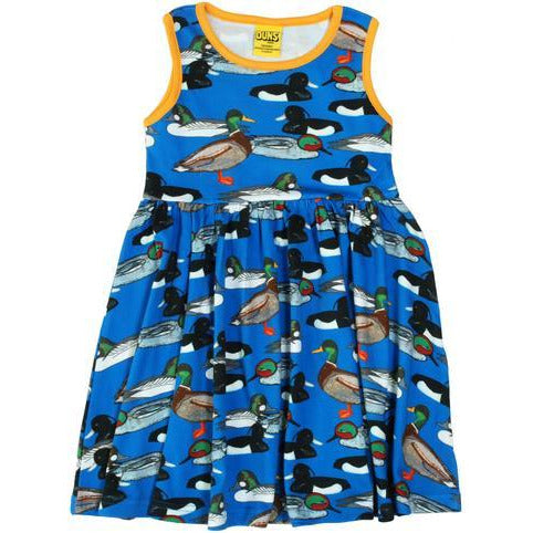 Duns Sweden - Duck Pond Blue Sleeveless Dress W Gather Skirt - PopSee Online