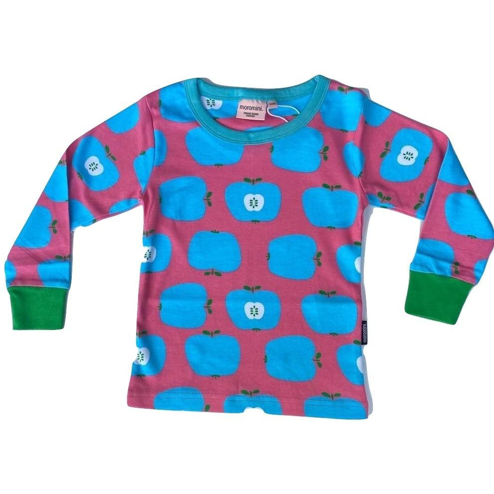 Moromini - Long Sleeve Top Blue apples