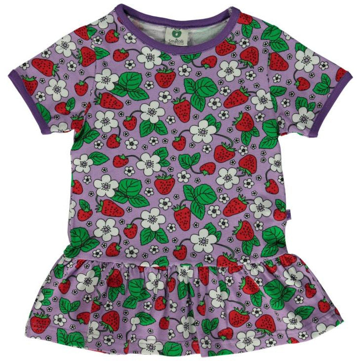 Småfolk - Peplum T-shirt with Strawberries