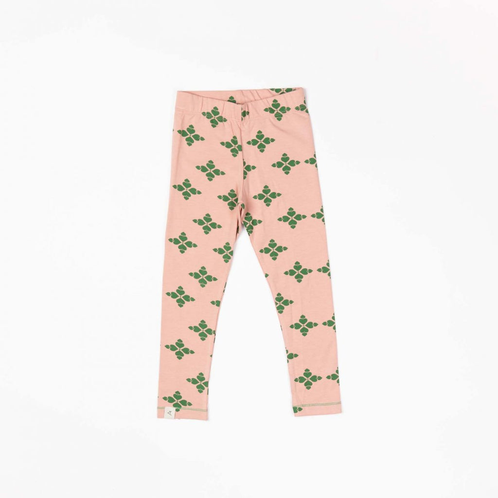 Alba of Denmark - Haniella Leggings Peach Beige Big Hearts - PopSee Online