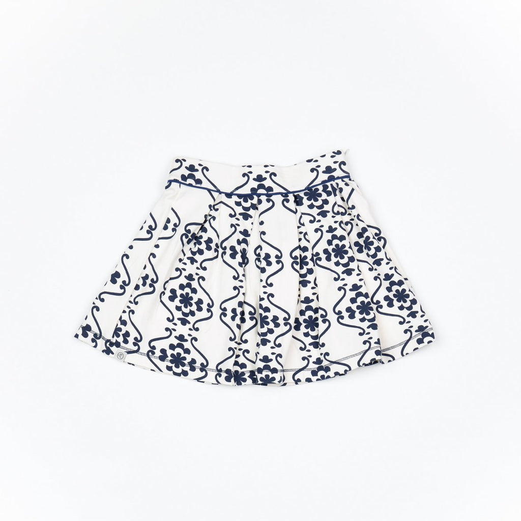 Alba of Denmark - Nelly Skirt Blueprint Nostaltic flowertiles - PopSee Online