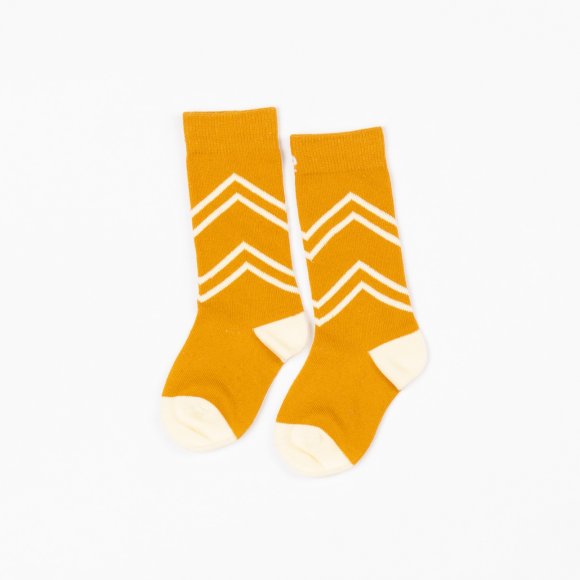 Alba of Denmark - Bright Gold Organic Annie Knee High Socks (last one sz 18-24M)