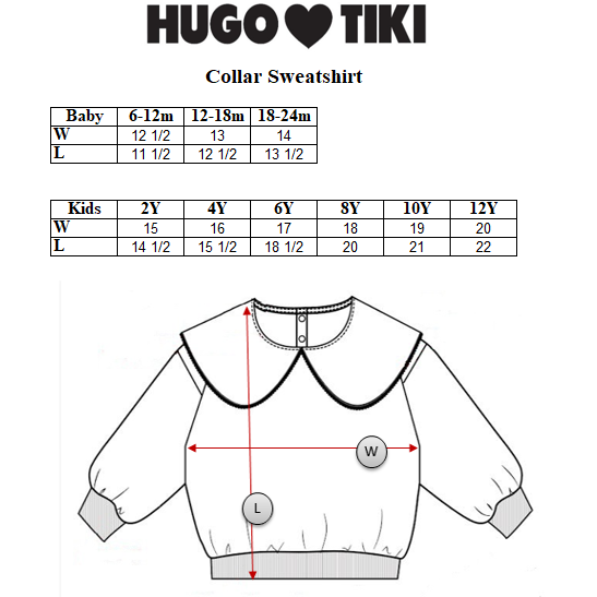 Hugo Loves Tiki - Logo Collar Sweatshirt