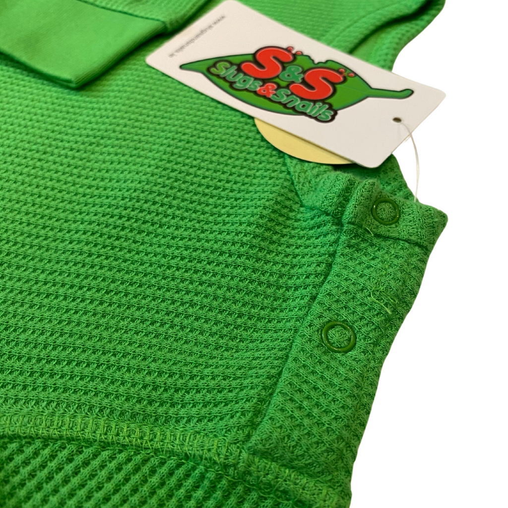 Slugs & Snails Basics - Waffle Top  - Emerald Green ***Pre-Order***