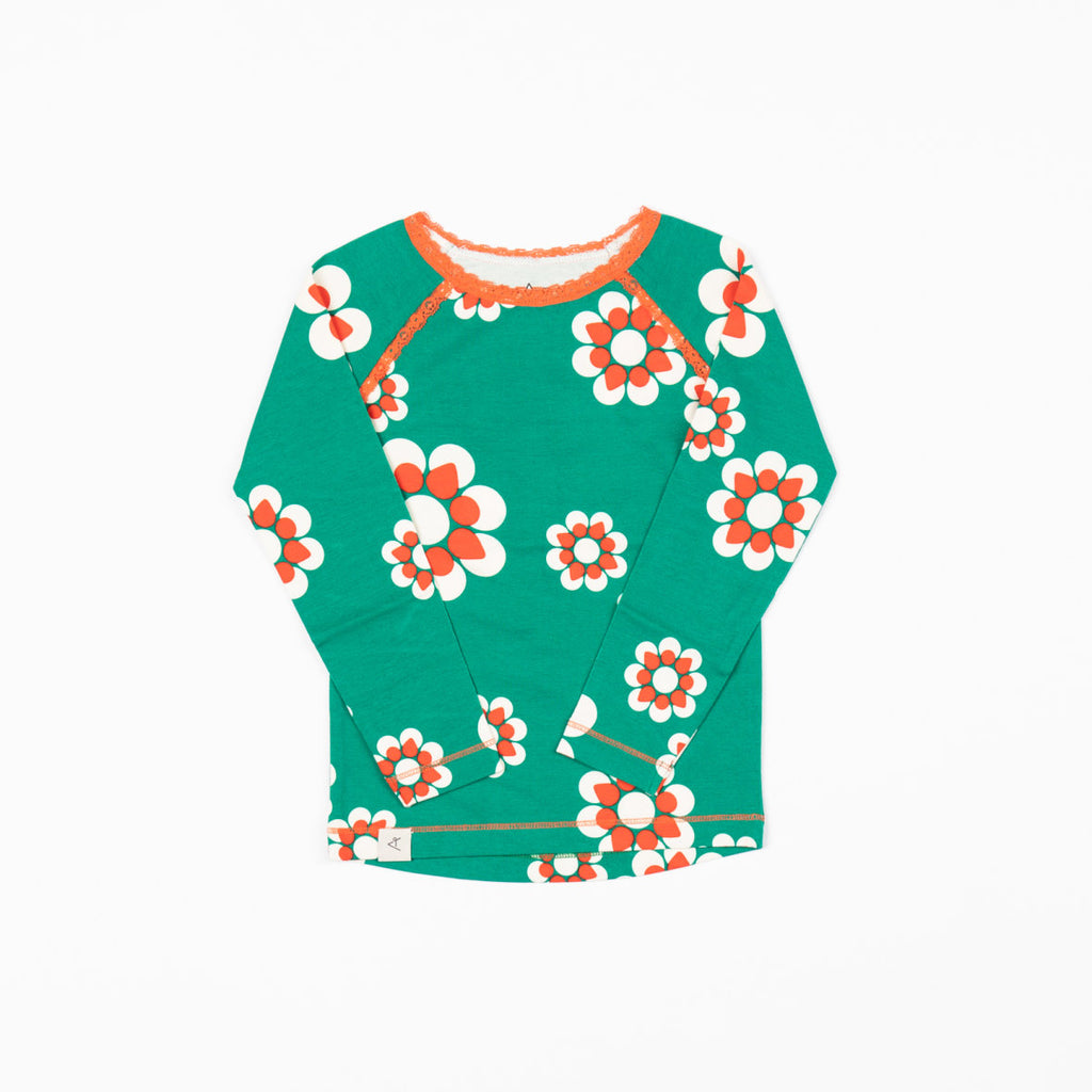 Alba of Denmark - Ghita Blouse - Pepper Green Flower Heaven