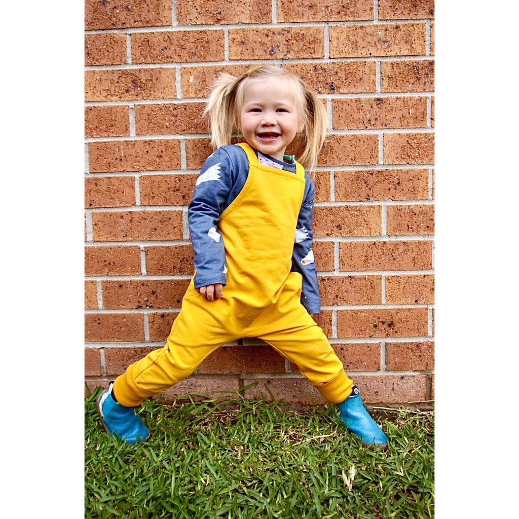 Dont grow up - Yellow Salopette Dungarees (Last two 18mths and 4-5Yrs)
