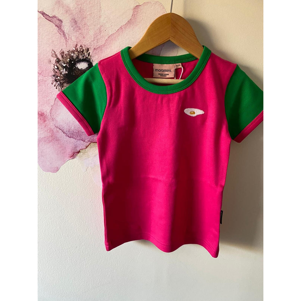 Moromini - Short Sleeve Top- Pink/Green