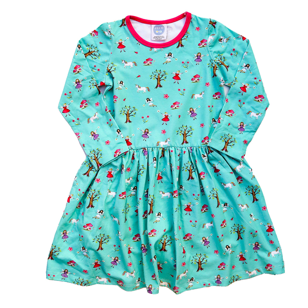 Jeco - Turquoise Fairy  Dress (Long Sleeve)