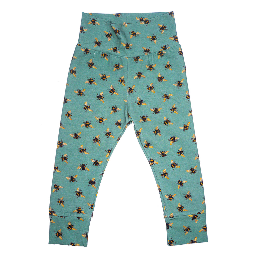 Jeco - Bees Teal  - Leggings