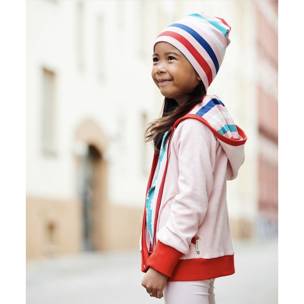 Maxomorra - Cardigan Hood Velour (last one sz7-8Y)
