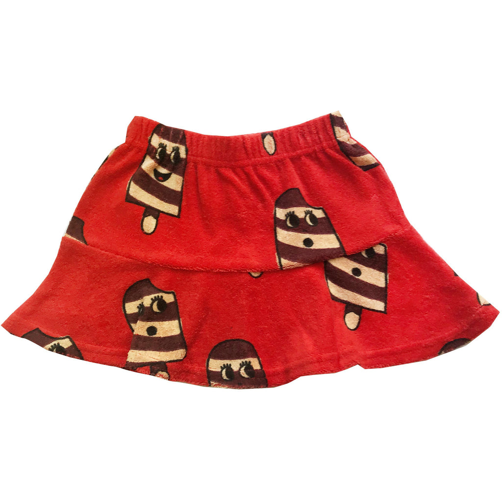Hugo Loves Tiki - Terry Skirt - Ice Cream Red