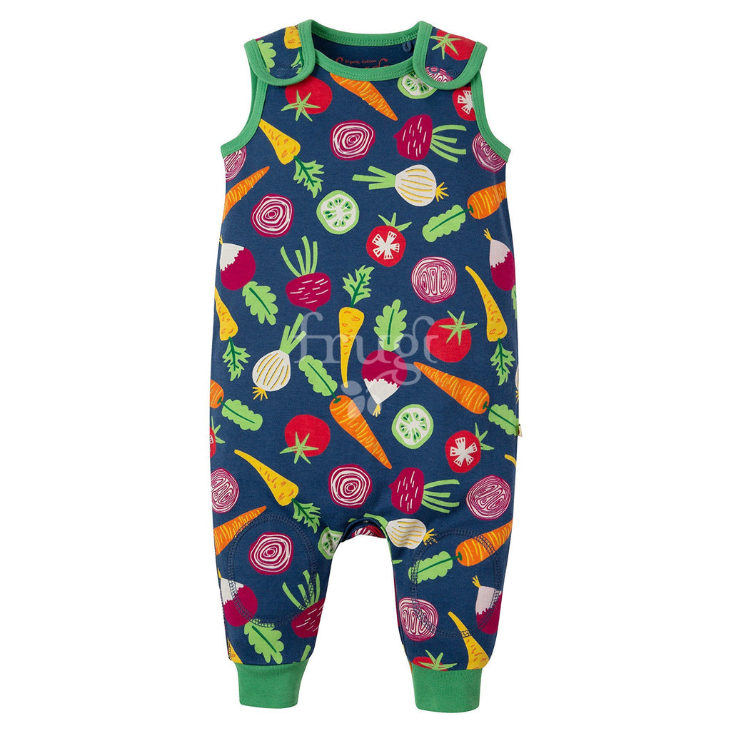 Frugi - Kneepatch Dungaree homegrown