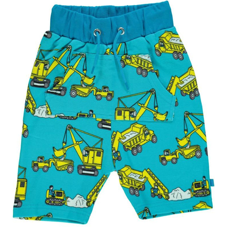 Småfolk - Shorts with Machines in Blue Atoll (last one left sz 7-8Y)
