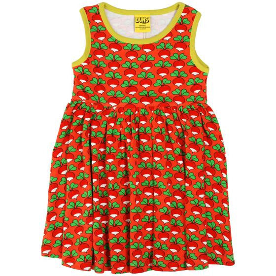 Duns Sweden - Radish Coral Sleeveless Dress W Gather Skirt - PopSee Online