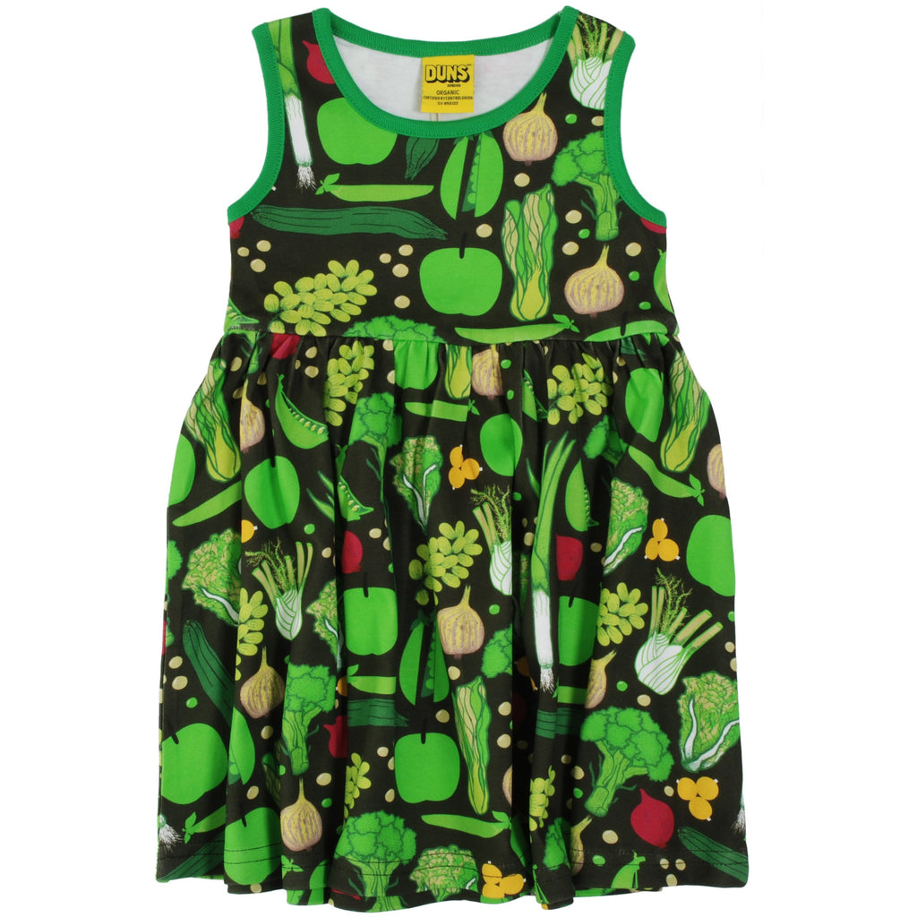 Duns Sweden - Eat Your Greens Sleeveless Dress W Gather Skirt - PopSee Online