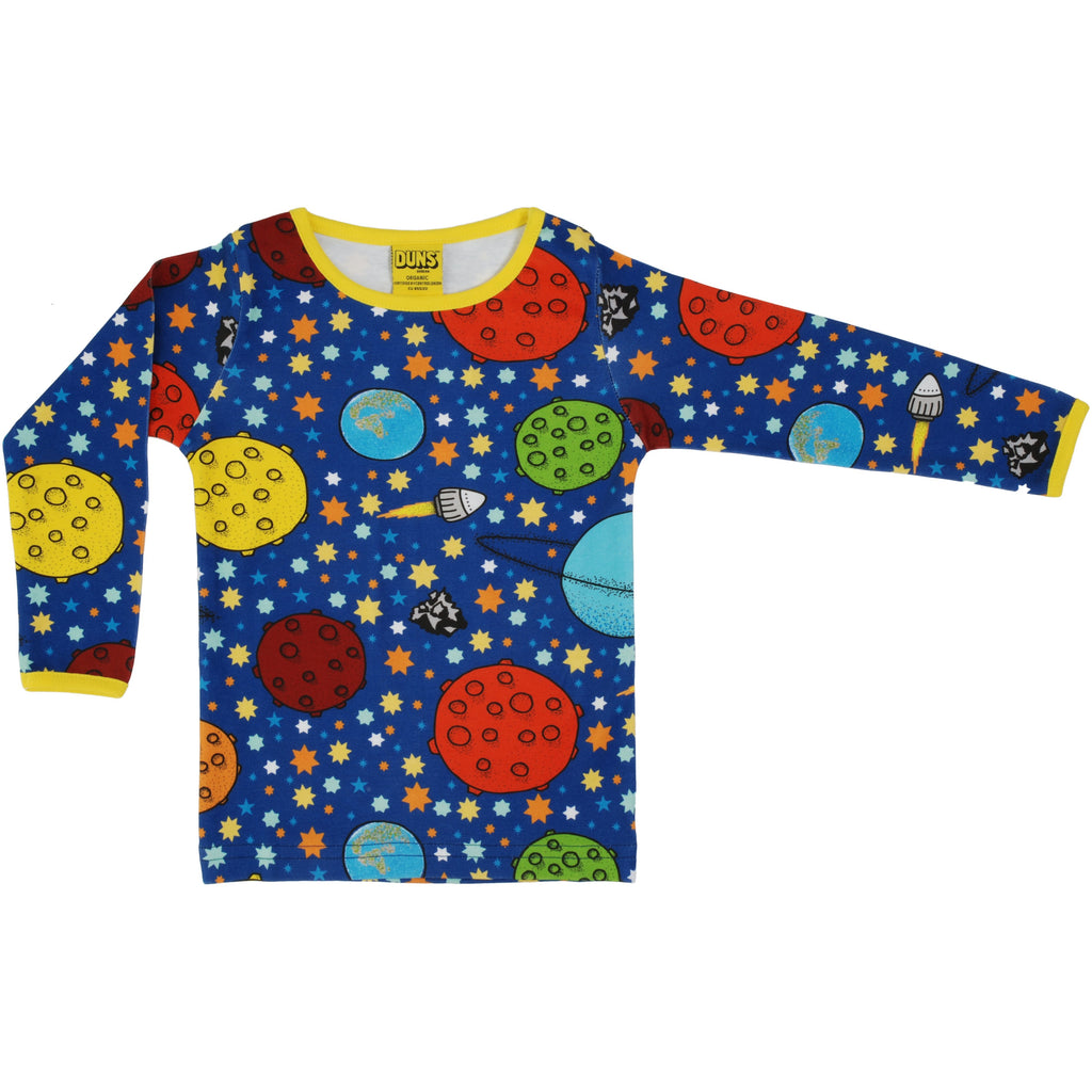 Duns Sweden - Lost In Space Navy Long Sleeve Top - PopSee Online