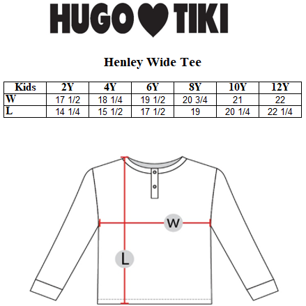 Hugo Loves Tiki - Yellow Pickles Wide Henley Top