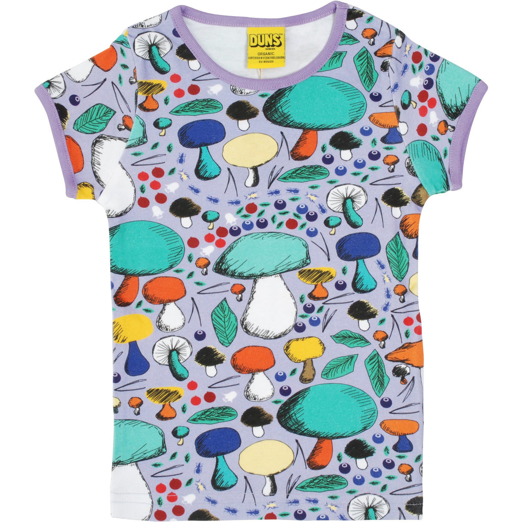 Duns Sweden - Mushroom Forest Violet Short Sleeve Top