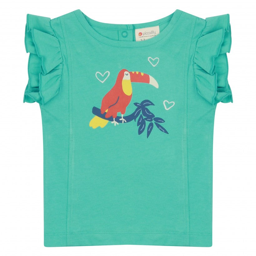 Piccalilly - Ruffle Vest Top - Toucan