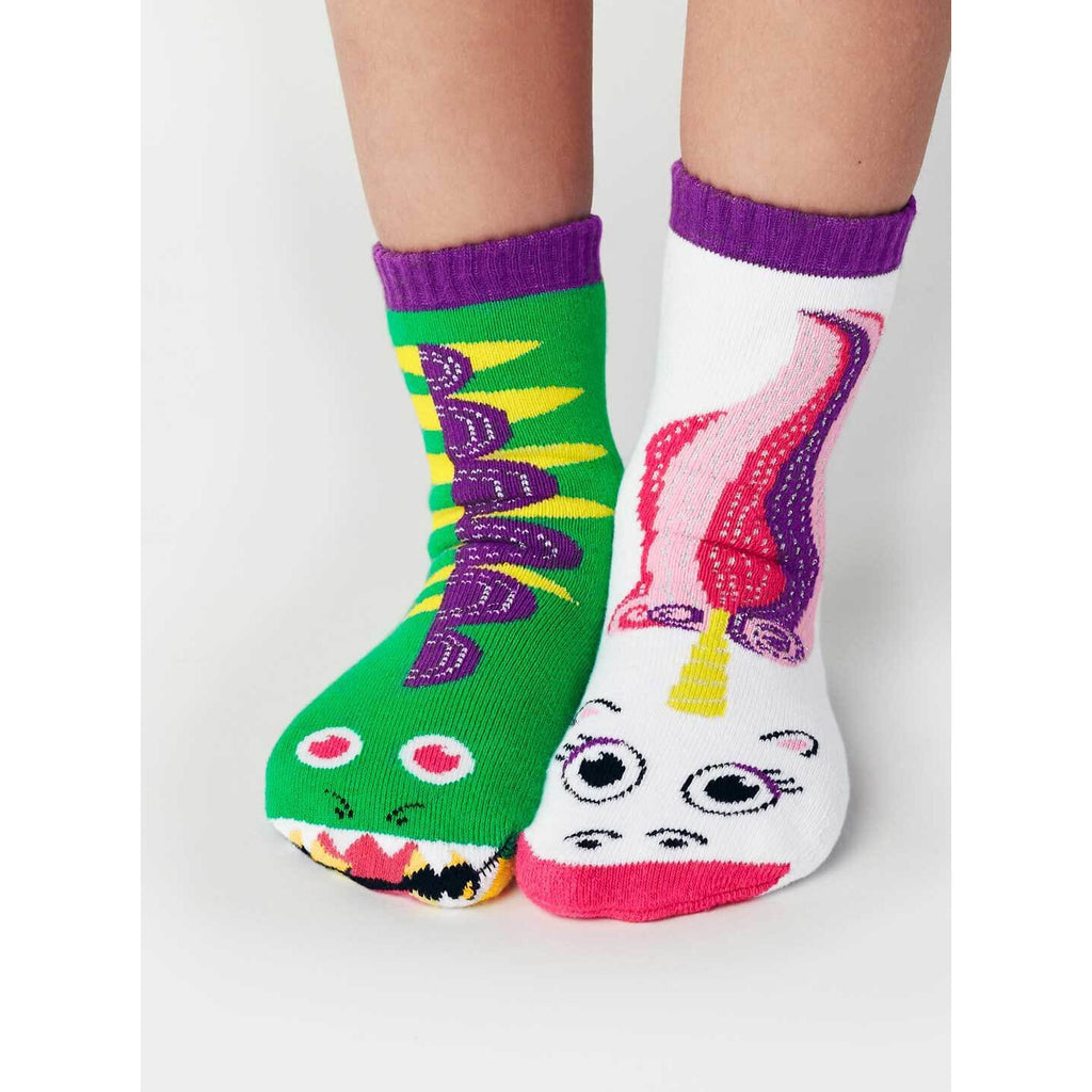 Pals Socks - Dragon & Unicorn Kids Collectible Mismatched Socks - PopSee Online