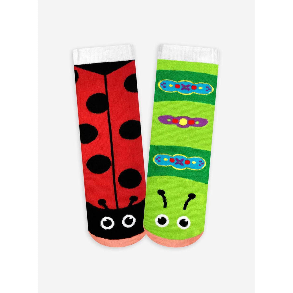 Pals Socks - Ladybug & Caterpillar Kids Collectible Mismatched Socks - PopSee Online