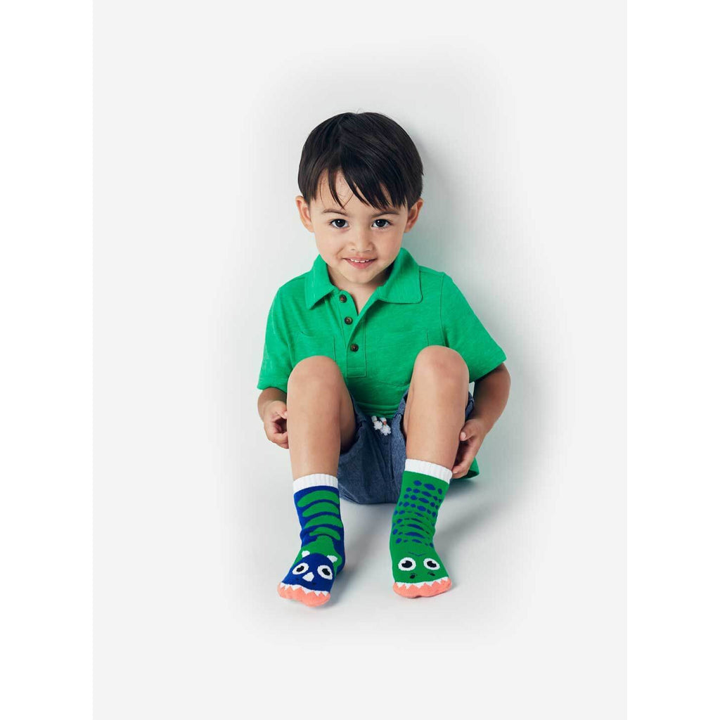 Pals Socks - T-Rex & Triceratops Kids Collectible Mismatched Socks - PopSee Online
