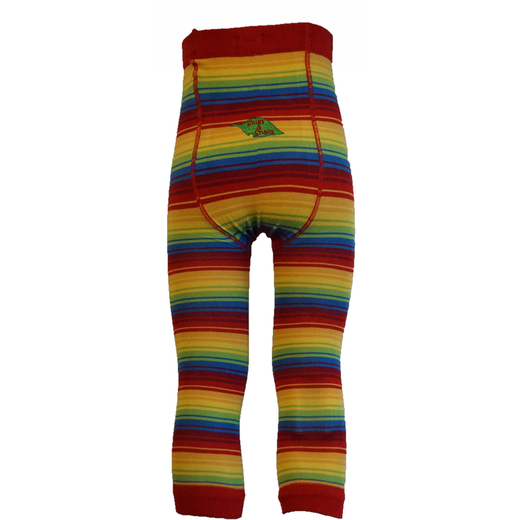 Slugs & Snails - Rainbow Stripe Footless Tights