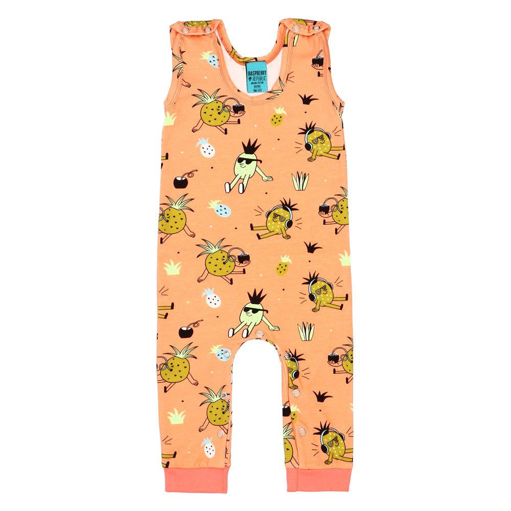 Raspberry Republic - Dungarees Pineapple Punch (last two sz 6-9M & 2-3Y)