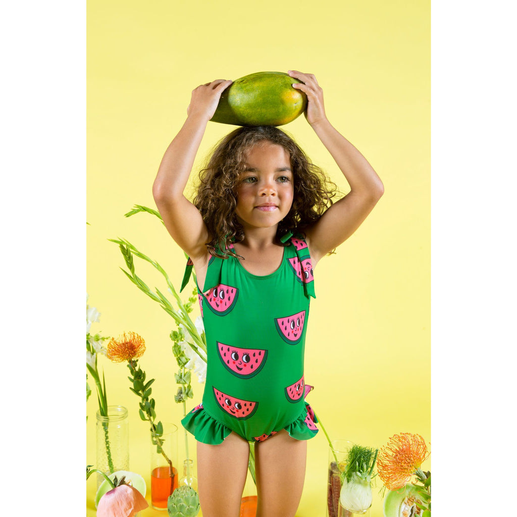 Hugo Loves Tiki - Bow Swimsuit - Watermelon Green