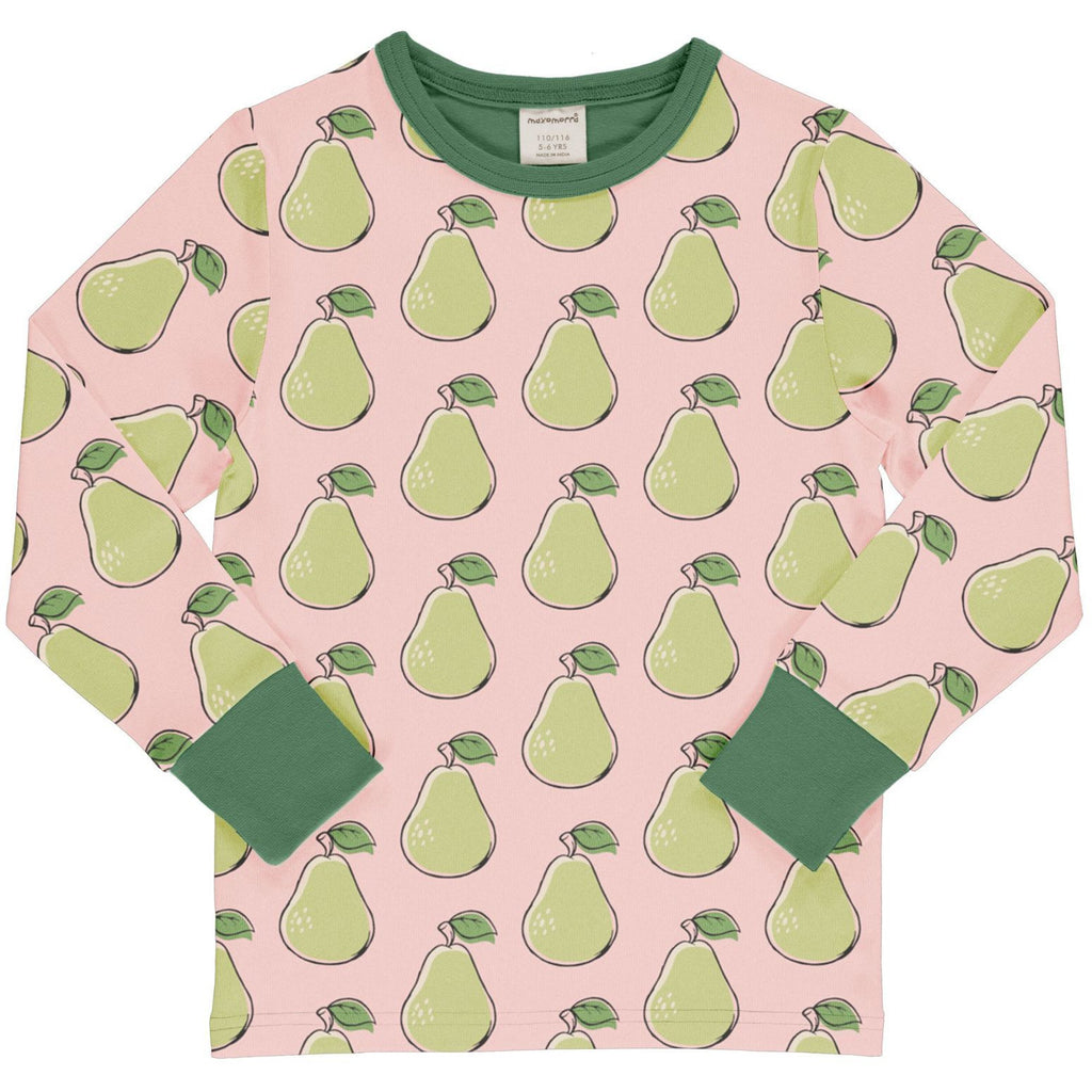 Maxomorra - Long Sleeve Top Pear