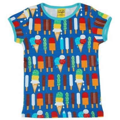 Duns Sweden - Ice Cream Blue - Short Sleeve Top