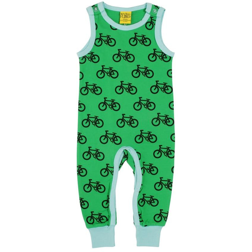 MORE THAN A FLING - Bike Green Dungaree
