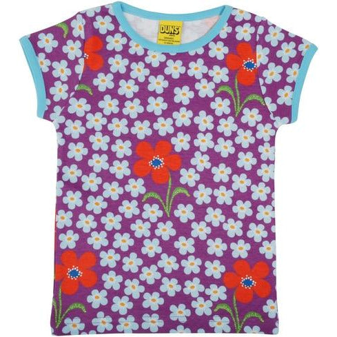 Duns Sweden - Flower Amethyst | Short Sleeve Top