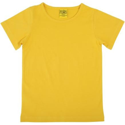More Than A Fling -Short Sleeve Top  | Warm Yellow