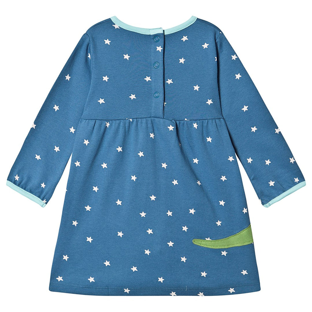 Frugi - Dolcie Dress Steely Blue Star/Dino