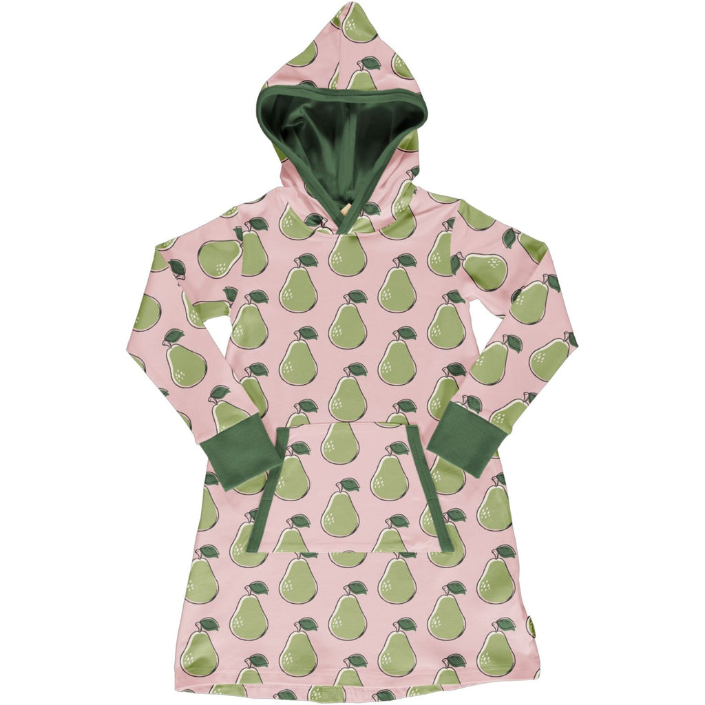 Maxomorra - Hoodie Dress Sweat Pear