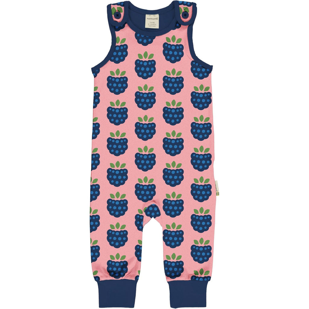 Maxomorra - Playsuit Dungarees Blackberry